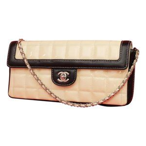 Chanel  Patent Chocolate Bar East West Chain Flap